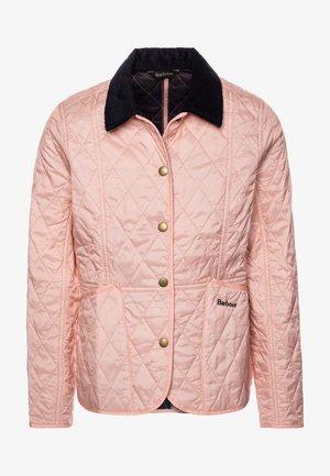 GIRLS SUMMER LIDDESDALE QUILT - Light jacket - pale coral/navy