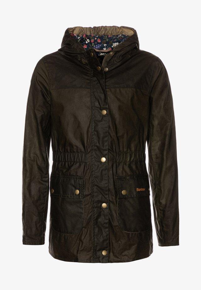 GIRLS HAMLET - Waterproof jacket - archive olive
