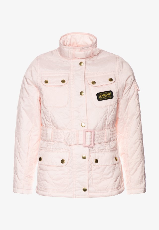GIRLS FLYWEIGHT INTERNATIONAL QUILT - Light jacket - cameo pink
