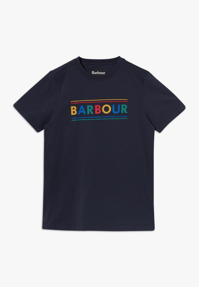 BOYS MULTI LOGO TEE - T-Shirt print - navy