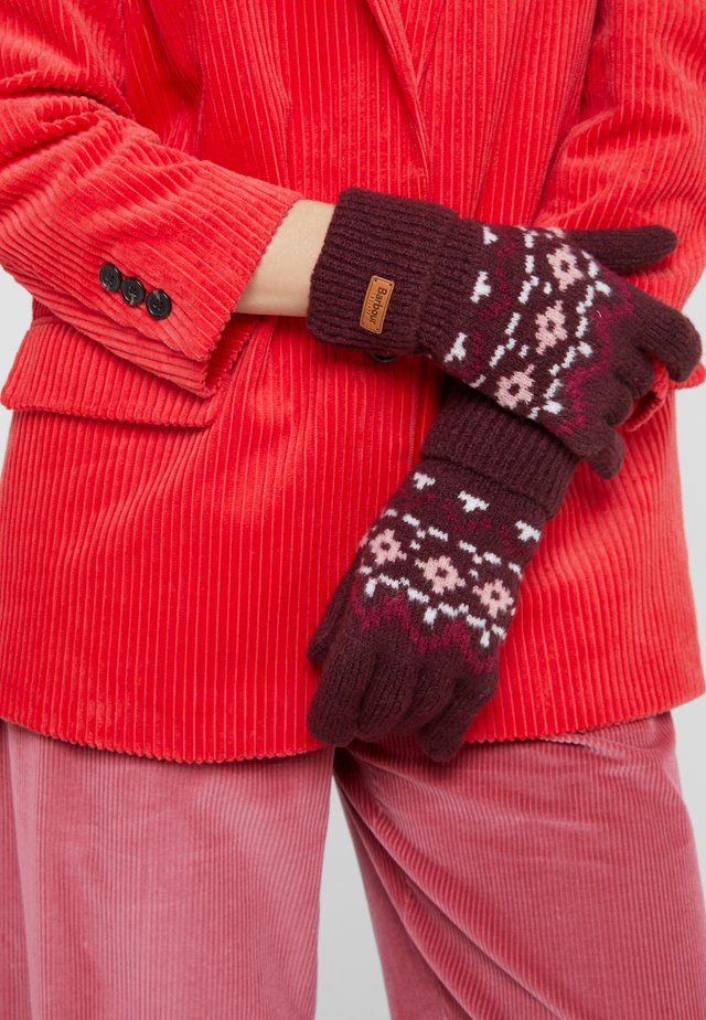 ROSEBERRY GLOVES - Fingerhandschuh - bordeaux/pink