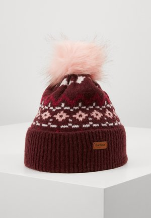 ROSEBERRY FAIRISLE - Bonnet - bordeaux/pink