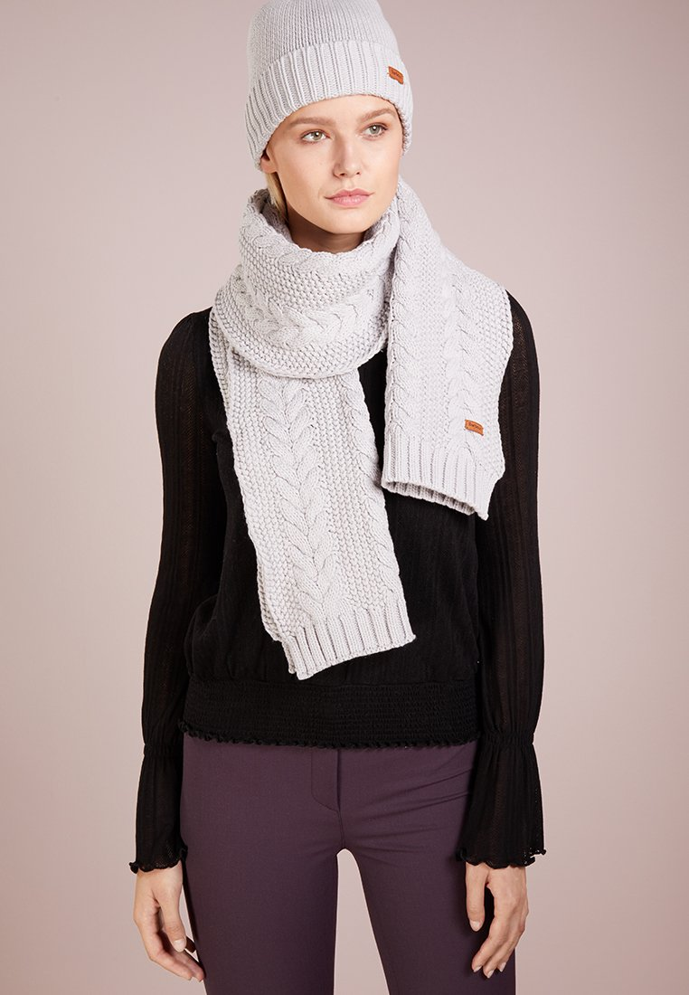Barbour - CABLE HAT SCARF SET - Szal - ice white