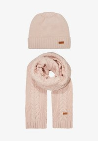 Barbour - CABLE HAT SCARF SET - Scarf - pink - 1