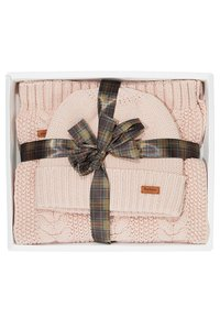 Barbour - CABLE HAT SCARF SET - Scarf - pink - 4