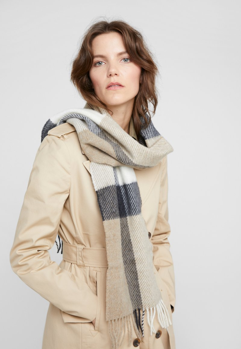 Barbour - HAMBLE CHECK SCARF - Scarf - neutral