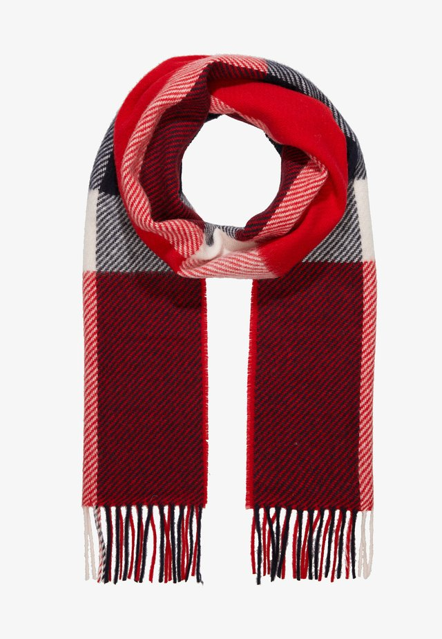 HAMBLE CHECK SCARF - Schal - navy/red