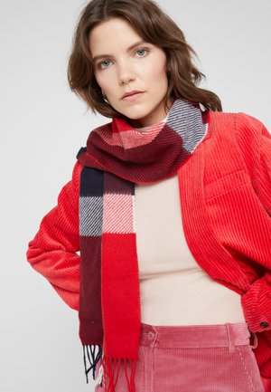 HAMBLE CHECK SCARF - Scarf - navy/red