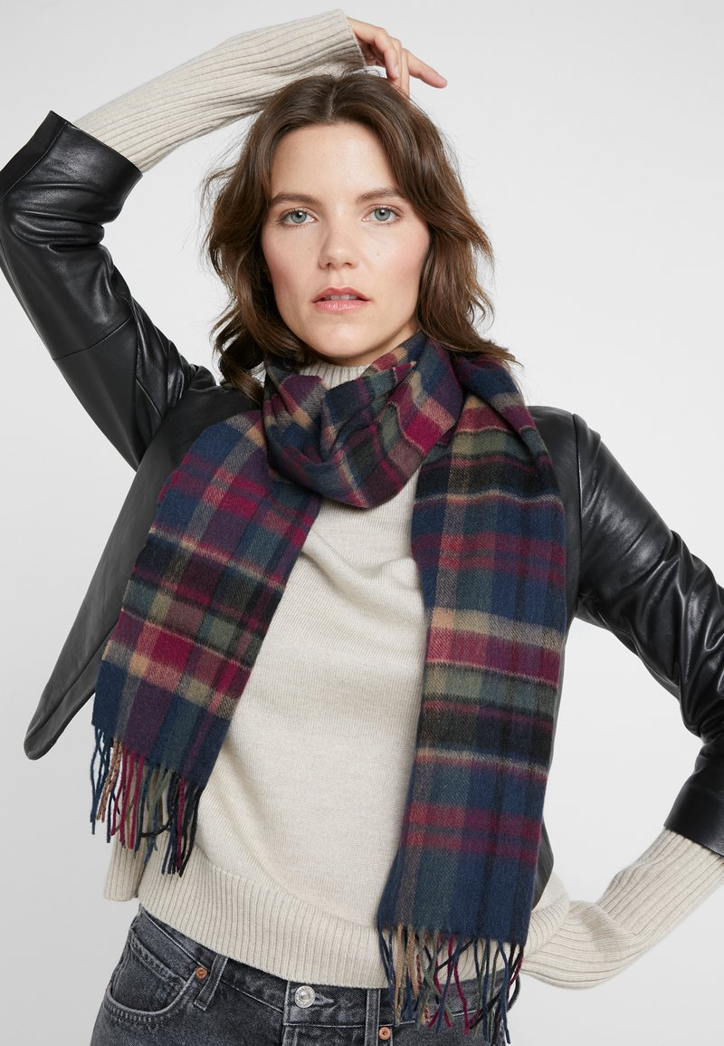 Barbour - VINTAGE WINTER PLAID - Szal - navy