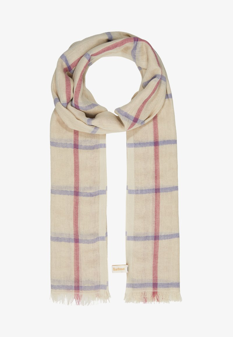 Barbour - COUNTRY WINDOWPANE WRAP - Šála - sand dune
