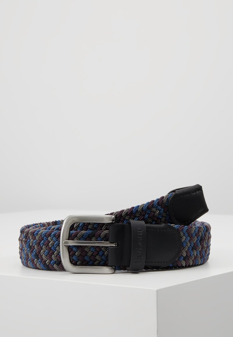 Barbour - TARTAN BELT GIFT BOX - Belt - dark blue/brown