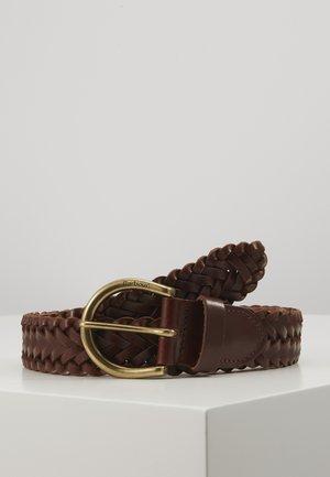 CHILTON BELT - Braided belt - brown