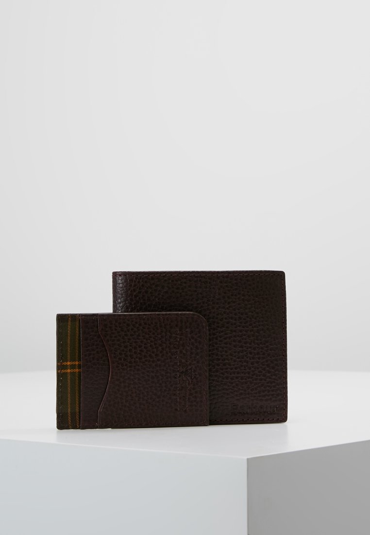 Barbour - BILLFOLD CURVED CARD HOLDER GIFT SET - Portemonnee - oxblood