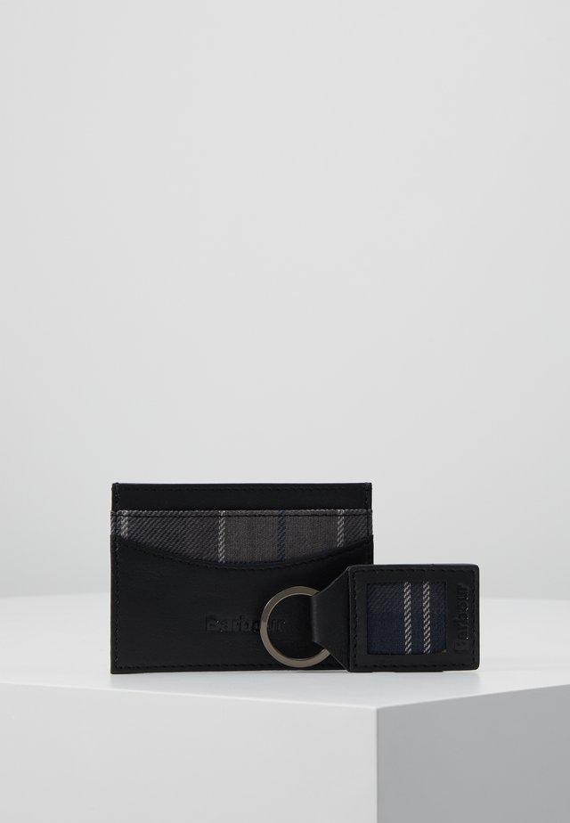 CARDHOLDER KEYRING SET - Business card holder - black/merlot/shadow