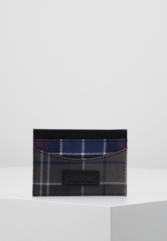 MIXED TARTAN CARD HOLDER - Pouzdro na vizitky - merlot/shadow
