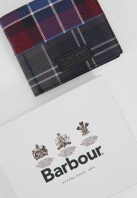 Barbour - MIXED TARTAN COIN BILLFOLD WALLET - Wallet - merlot/shadow - 2