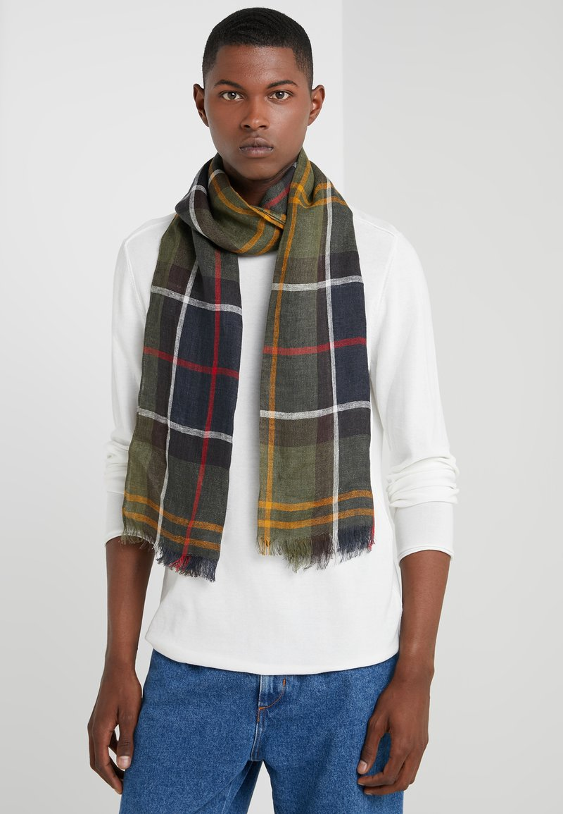 Barbour - Scarf - navy/white