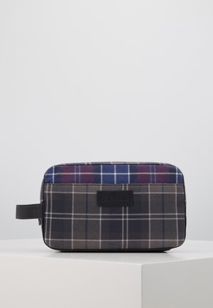 MIXED TARTAN WASH BAG - Wash bag - merlot/shadow