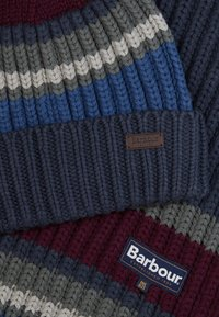 Barbour - STRIPE BEANIE SCARF SET - Scarf - navy