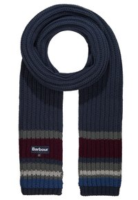 Barbour - STRIPE BEANIE SCARF SET - Scarf - navy - 5