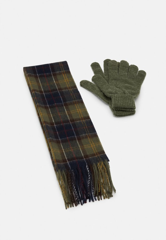 TARTAN SCARF AND GLOVE GIFT SET - Scarf - classic/olive