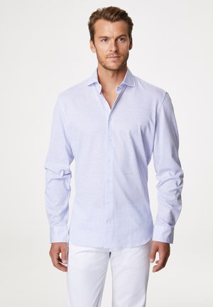 HENRY - Shirt - white/blue