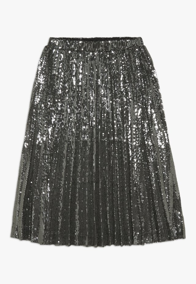 IVA SEQUIN PLEAT - Plisovaná sukně - gunmetal