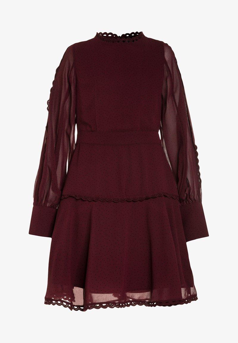 Bardot Junior - LOOP TRIM DRESS - Cocktail dress / Party dress - dark red