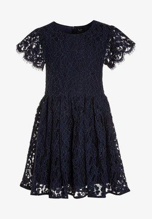 SIENNA FLUTTER DRESS - Cocktail dress / Party dress - navy
