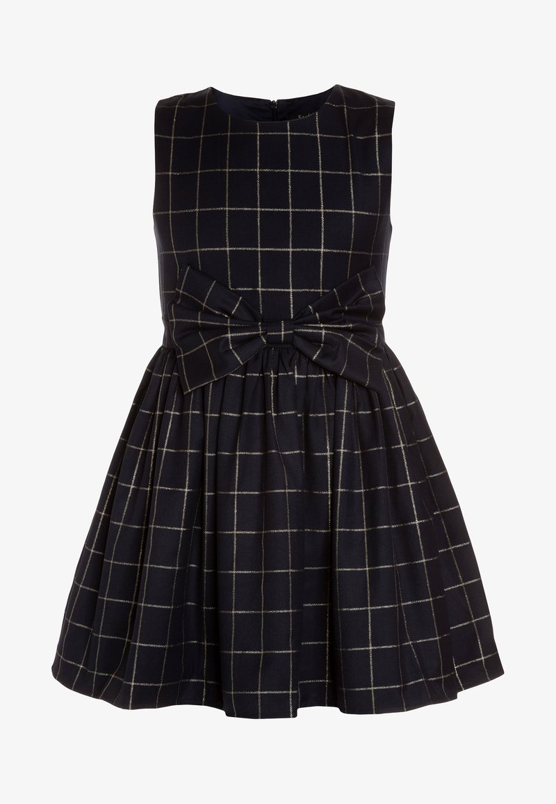 Bardot Junior - CHECK BOWIE DRESS - Cocktail dress / Party dress - navy/gold