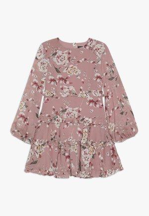 FLORAL FRILL DRESS - Freizeitkleid - rose