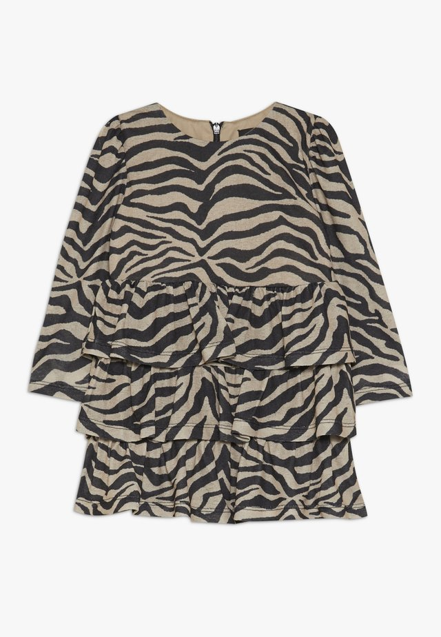 ZEBRA RARA DRESS - Jerseykjoler - tan