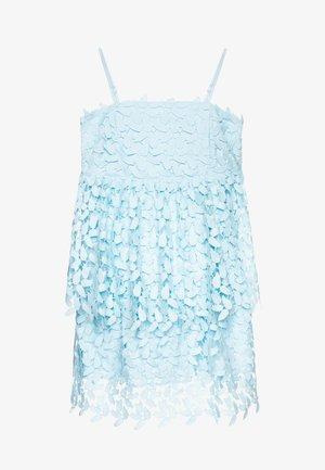 DARCY LEAF DRESS - Sukienka koktajlowa - crystal blue