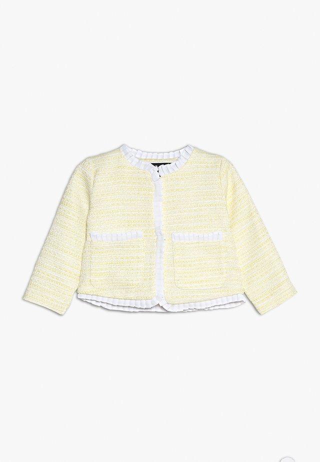 COCO FRILL JACKET BABY - Blazere - pastel yellow