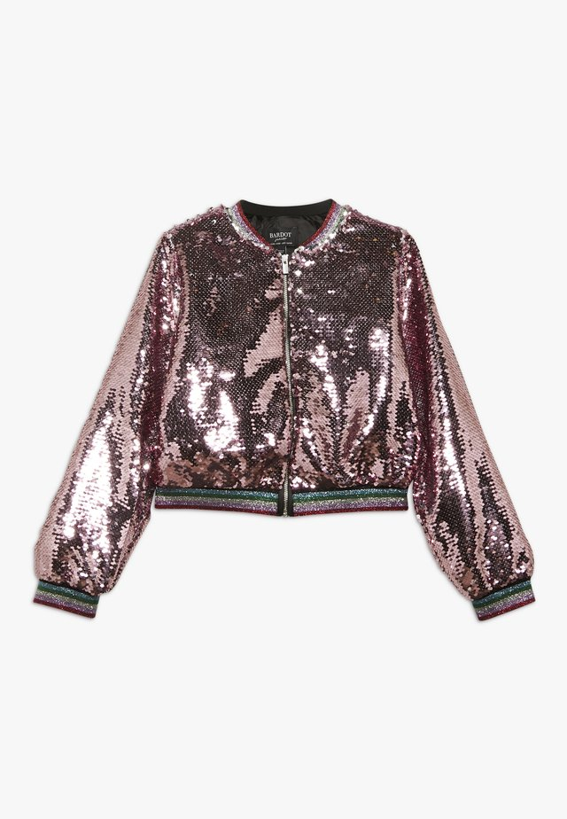 EVA SEQUIN  - Giubbotto Bomber - pink rose