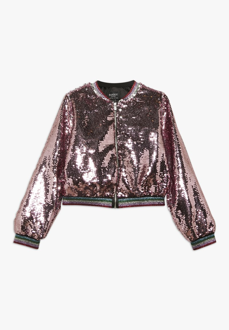 Bardot Junior - EVA SEQUIN  - Kurtka Bomber - pink rose