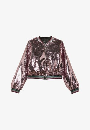 EVA SEQUIN  - Bomber bunda - pink rose