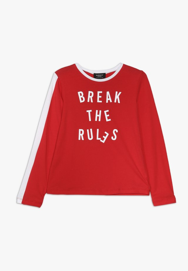 BREAK RULES TEE - Langærmede T-shirts - high risk red