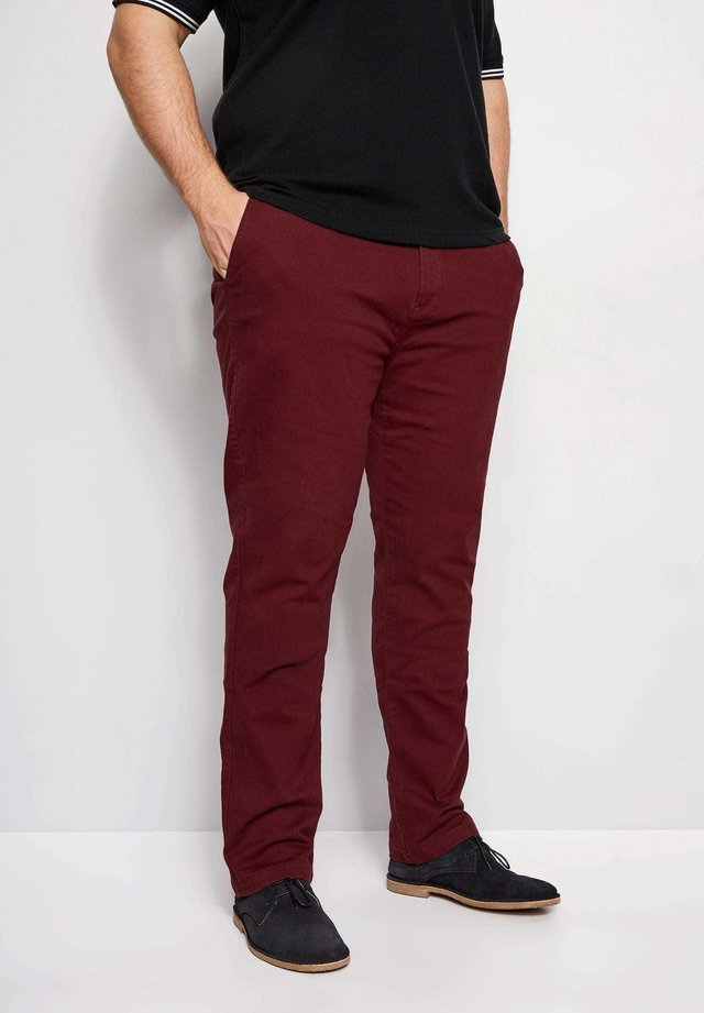 BIG AND TALL STRETCH - Trousers - red