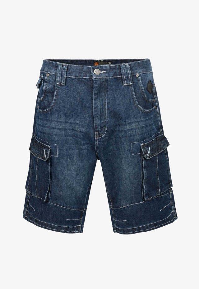 KAM  - Denim shorts - blue