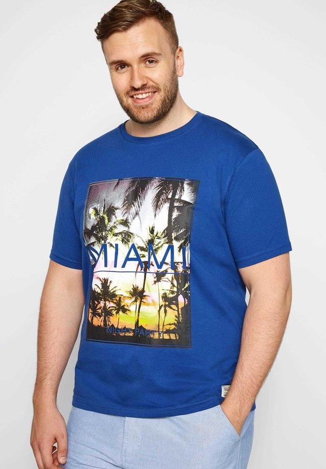 MIAMI - Print T-shirt - blue