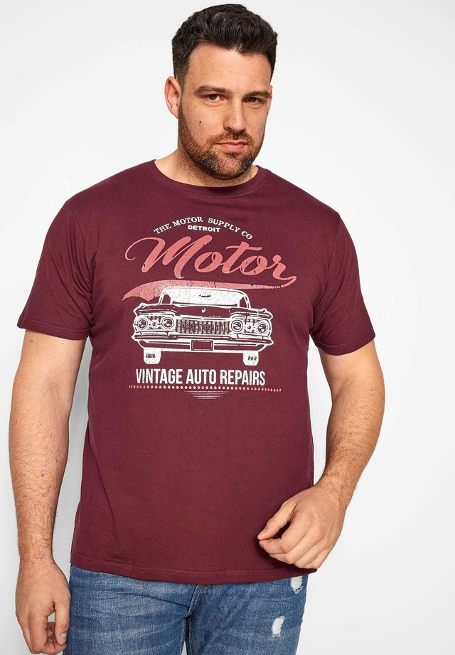 MOTOR GRAPHIC PRINT - Print T-shirt - red