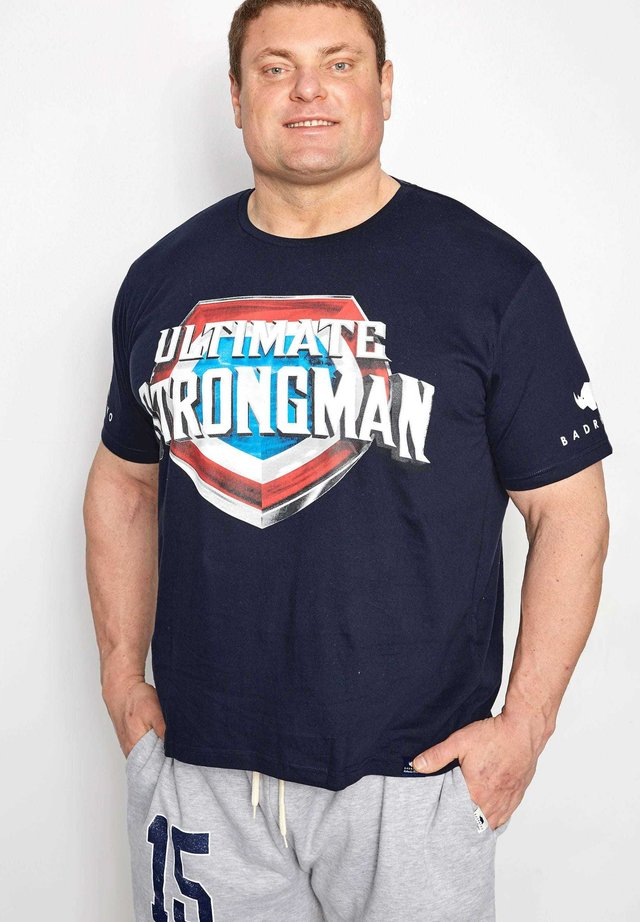 ULTIMATE STRONGMAN - T-Shirt print - blue