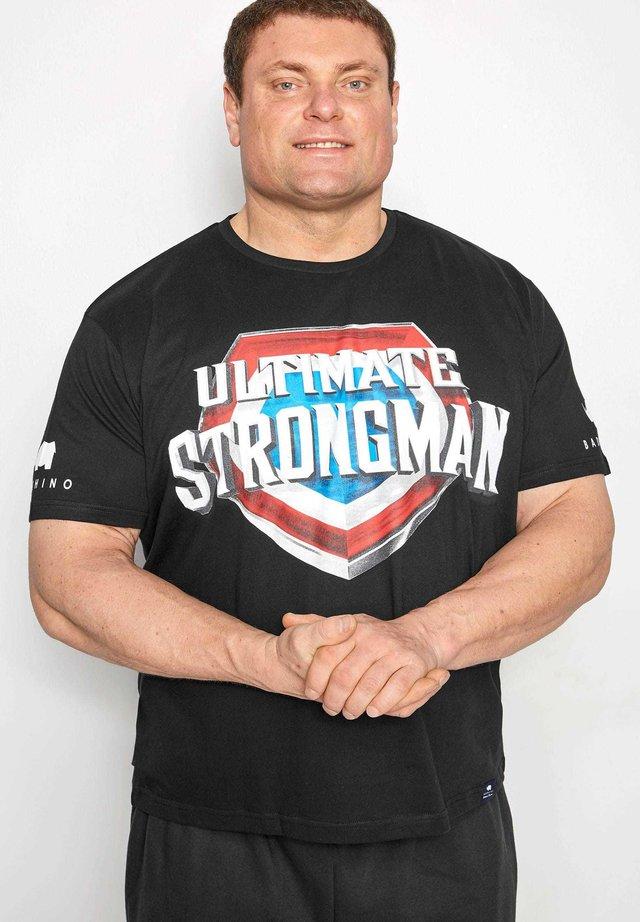ULTIMATE STRONGMAN - Print T-shirt - black