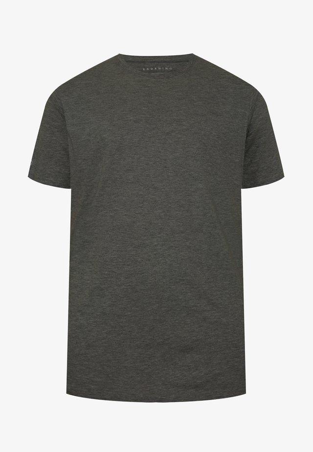 CHARCOAL GREY EMBROIDERED LOGO - Basic T-shirt - grey
