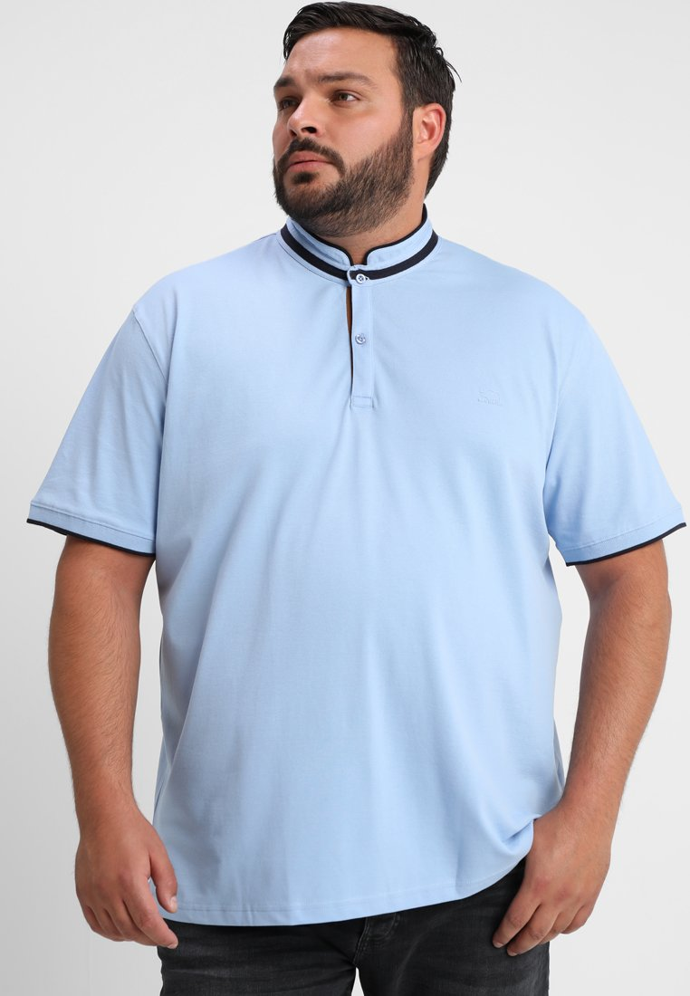 BAD RHINO - GRANDAD COLLAR PLUS - Basic T-shirt - sky