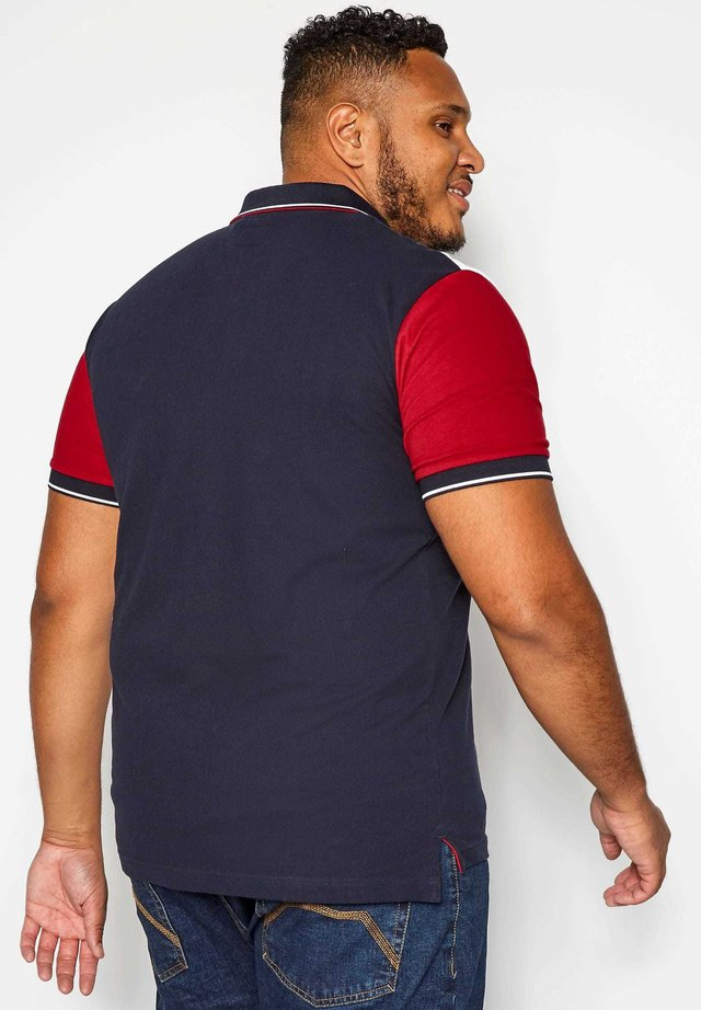BIG AND TALL COLOUR BLOCK - Polo shirt - blue