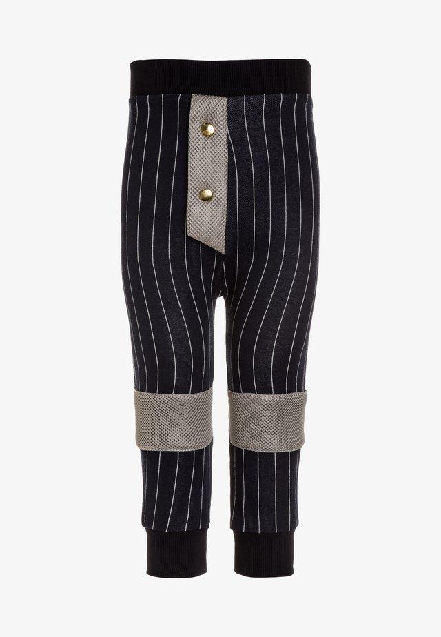 HERO PANTS - Trousers - dark blue/white