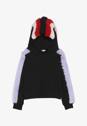 LUCCA - Jersey con capucha - black