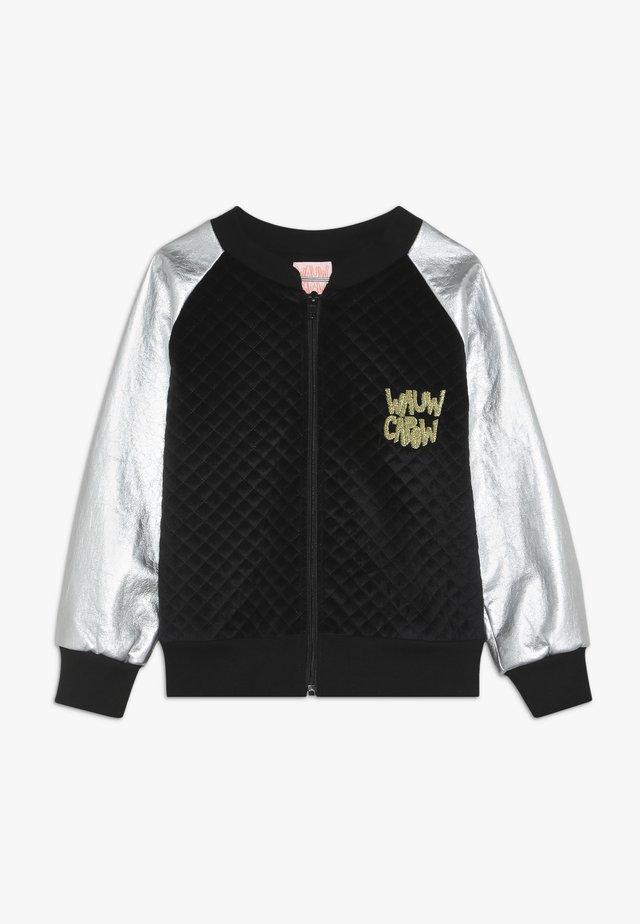 JACKET - Zip-up hoodie - black/silver
